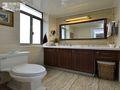100平米三室两厅美式风格卫生间浴室柜图片大全