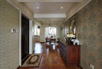 130平米三室两厅美式风格玄关门口设计图
