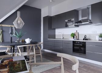 140平米四室一厅北欧风格厨房效果图