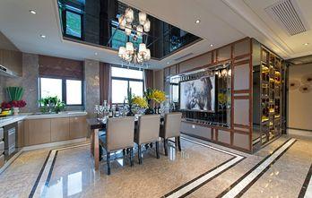 140平米别墅现代简约风格餐厅背景墙图