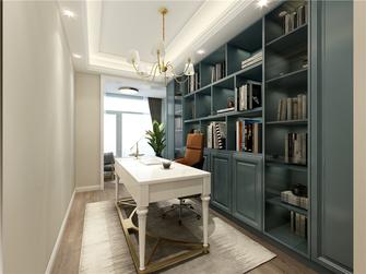 140平米三室两厅欧式风格书房图片