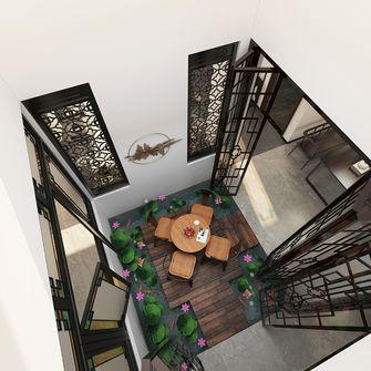 140平米复式混搭风格阁楼装修效果图