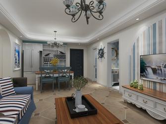 110平米三室两厅地中海风格餐厅图片
