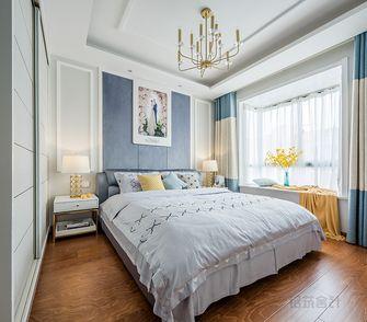 80平米混搭风格卧室壁纸设计图