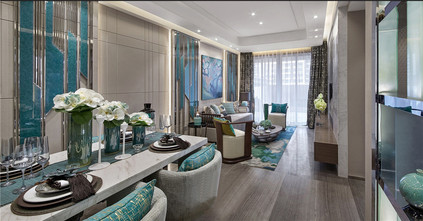 120平米三室两厅混搭风格餐厅装修图片大全