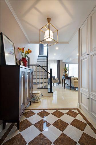 130平米三室三厅美式风格玄关图片