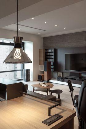 110平米三室一厅现代简约风格书房图
