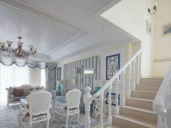 130平米三室一厅田园风格楼梯图