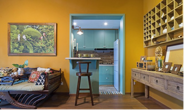 40平米小户型东南亚风格客厅图片大全