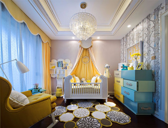 100平米三室两厅新古典风格儿童房装修图片大全