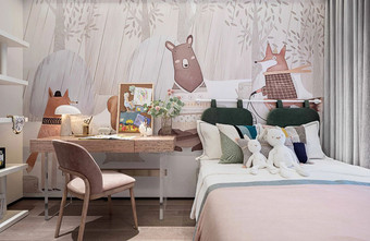 80平米现代简约风格儿童房图片