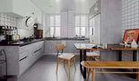 50平米公寓混搭风格餐厅图片