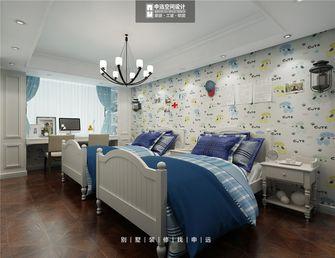 140平米别墅美式风格儿童房背景墙图片