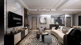 140平米复式英伦风格客厅效果图