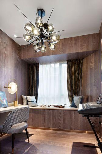 130平米三室两厅英伦风格书房设计图