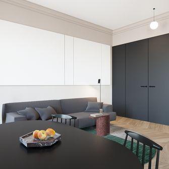 70平米公寓英伦风格客厅装修图片大全