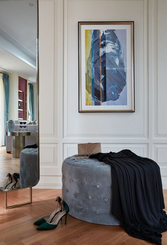 140平米别墅现代简约风格衣帽间图