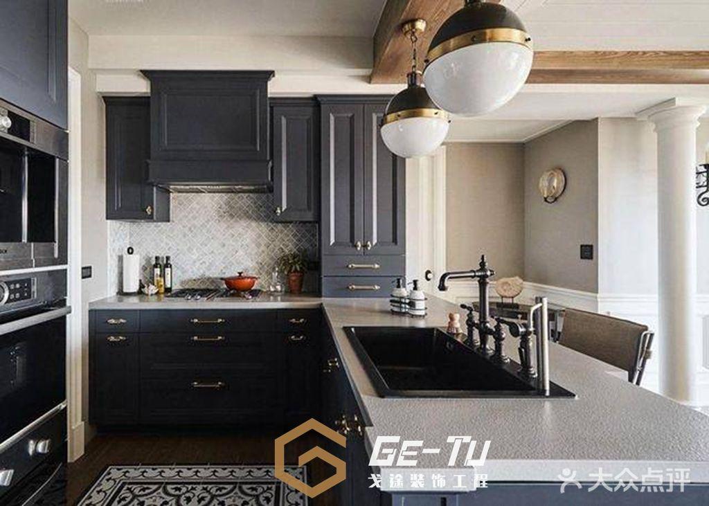 140平米美式风格厨房图片