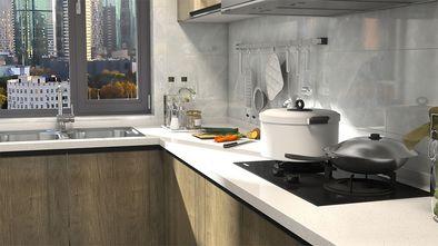 富裕型110平米三室两厅新古典风格厨房图