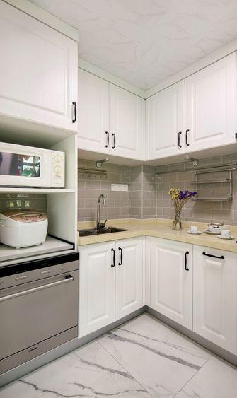 120平米四室一厅田园风格厨房图片大全