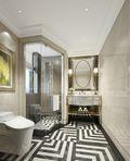 130平米三室两厅法式风格卫生间效果图