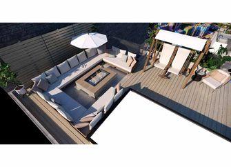 140平米复式现代简约风格阳台图