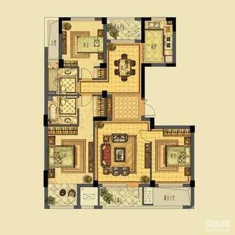 富裕型80平米地中海风格阁楼图