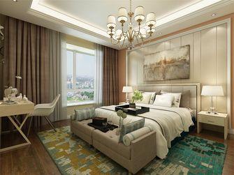 130平米三室两厅美式风格卧室背景墙设计图
