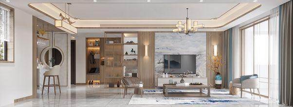130平米复式中式风格客厅图片大全