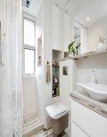 130平米三室一厅混搭风格卫生间设计图