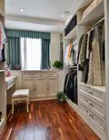 140平米三室三厅混搭风格衣帽间装修效果图