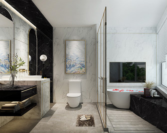 20万以上140平米别墅现代简约风格卫生间装修案例