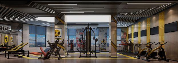 140平米复式现代简约风格健身室装修案例