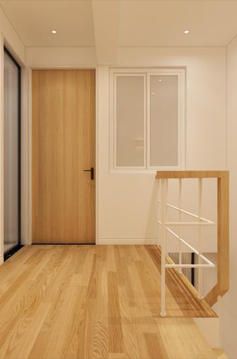 100平米复式日式风格楼梯间效果图