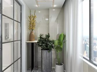 120平米三室三厅现代简约风格阳台图片大全