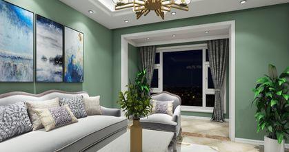 80平米田园风格客厅装修效果图