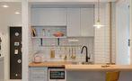 90平米三田园风格厨房装修效果图
