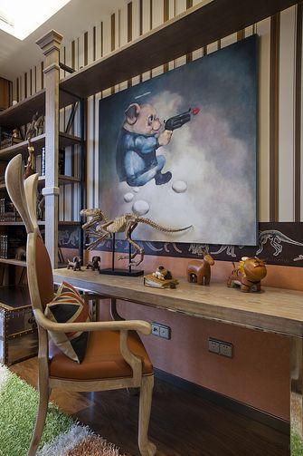 130平米三中式风格书房图片大全