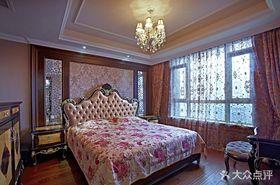 140平米三室兩廳新古典風格臥室圖片