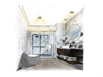 80平米三室两厅田园风格卫生间装修图片大全