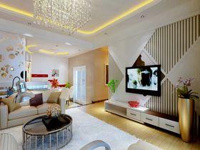 富裕型90平米三室一厅欧式风格客厅设计图