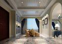 110平米三室两厅地中海风格影音室图片大全