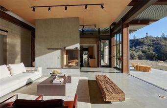 140平米别墅英伦风格客厅设计图