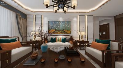 120平米三中式风格客厅装修图片大全