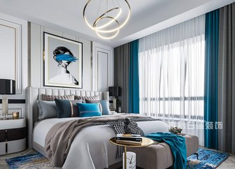 140平米别墅其他风格卧室设计图