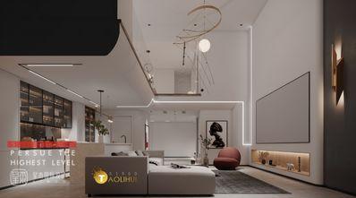140平米复式现代简约风格客厅效果图