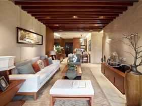 90平米中式风格客厅图