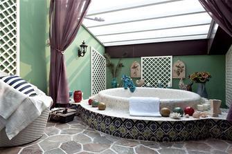 130平米三室两厅田园风格卫生间浴室柜装修图片大全