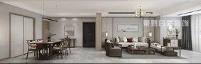 100平米三室一厅中式风格客厅图片