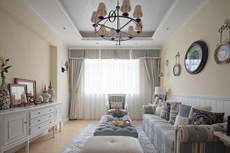140平米公寓地中海风格客厅装修图片大全